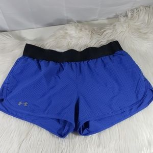Under Armour semi fitted running shorts size M